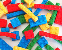 edible legos 24 edible building blocks bricks cupcake toppers kids birthday