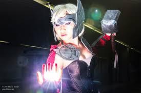 jane foster halloween costume ellie moonjelly as thor marvel ellie loves cosplay