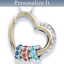 children s birthstone necklace forever in a s personalized heart shaped birthstone necklace