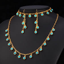 turquoise gold necklace images Turquoise stone gold necklace images jpg
