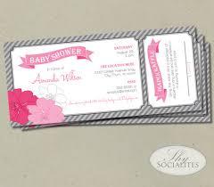 raffle baby shower pink grey raffle ticket baby shower invitation
