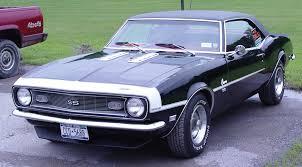 68 camaro ss 396 1968 chevrolet camaro ss 396 black vinyl roof front