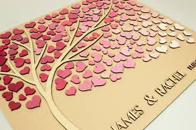 unique wedding guest books alternative wedding guest book 3d hearts tree custom unique