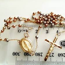 rosary bead necklace jewelry images 9ct gold rosary beads chain tri colour italy yellow rose yellow jpg