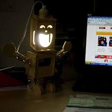 robotic illuminators diy robot lamp