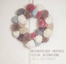 Live Decorated Christmas Wreaths by Live It Love It Make It Make It Anthropologie Inspired