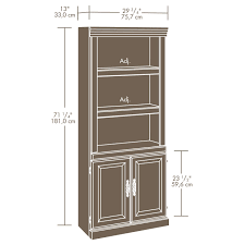 sauder 4 shelf bookcase sauder heritage hill outlet 2 door bookcase 71 1 4 u0027 u0027h x 29 3 4 u0027 u0027w