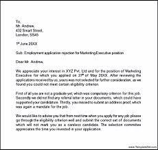 employment application rejection letter templatezet
