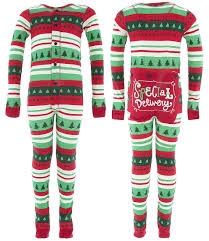 lazy one christmas special delivery union suit for kids
