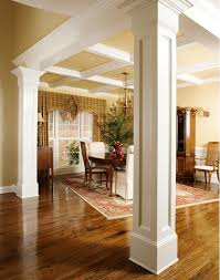 Dining Room Interior Design Ideas I How They Use Columns To Separate The Dining Room Home