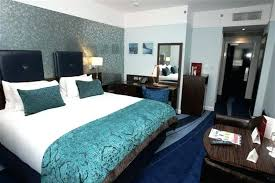blue color schemes for bedrooms blue bedroom colors white and dark brown furniture with accent wall