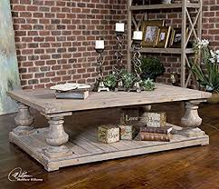Balustrade Coffee Table Rustic Pine Architectural Baluster Coffee Table
