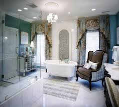 luxurious design of eclectic bathroom with bathtub again faucet