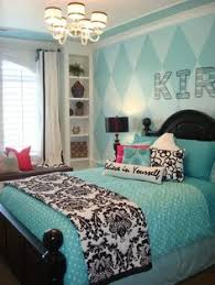 Cute Bedroom For Teenage Girl Love The Chevron Walls With The - Turquoise paint for bedroom