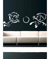 69 off on trends on wall white kids playing football wall sticker trends on wall white kids playing football wall sticker