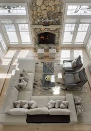 decked and styled spring home tour stacked stone fireplaces
