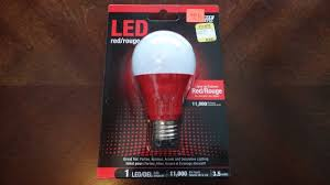 Red Led Light Bulb by Feit 3 5watt Red Led Light Bulb Youtube