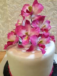 edible singapore orchid flower individual cake toppers on etsy