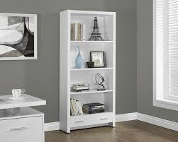 White Bookcases With Doors by Amazon Com Monarch Specialties White Hollow Core Bookcase With A