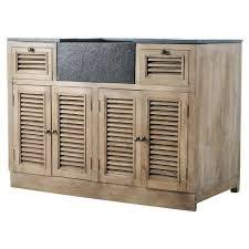 cuisines maison du monde cuisine élément bas 120 persiennes meuble de cuisine maisons du