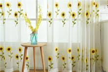 Sunflower Curtains Kitchen by Popular Sunflower Kitchen Curtains Buy Cheap Sunflower Kitchen
