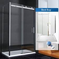 1200mm Shower Door by Aquaspa Ultimate Frameless Bundle 1200 X 700mm Sliding Shower