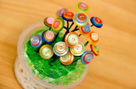 how to make a button flower arrangement 7 steps with pictures