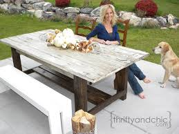 build your own outdoor table farmhouse patio table thrifty and chic diy projects and home decor