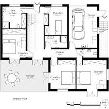 plan de maison avec 4 chambres plan de maison avec garage