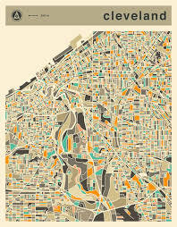 map of cleveland the 25 best cleveland map ideas on