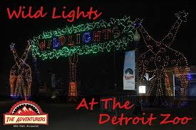 holiday lights tour detroit wild lights at the detroit zoo event review the adventurers