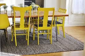 Yellow Dining Chair Nesting Yellow Painted Chairs A Beautiful Mess