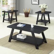 Coffee And End Table Set Black Coffee Table Sets You Ll Wayfair
