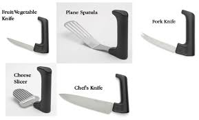 ergonomic kitchen knives assistivetech net ergonomic fruit vegetable knife
