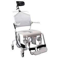 shower chair with armrests on casters with cutout seat max