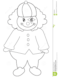 clown coloring page stock illustration image 52086425