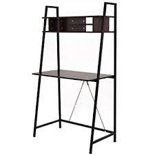 amazon com tangkula ladder shelf with desk leaning bookcases home