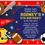 sports birthday party invitations sports birthday party