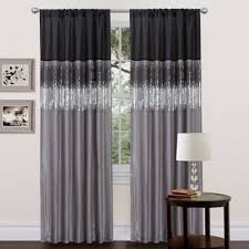 Black And Silver Curtains Buy Black And Silver Curtains From Bed Bath Beyond