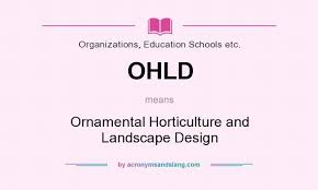 what does ohld definition of ohld ohld stands for