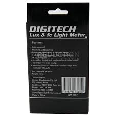 digitech lux meter light level meter