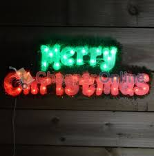 green led lights merry sign home indoor