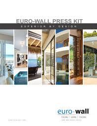 press kit marketing material u2022 euro wall systems