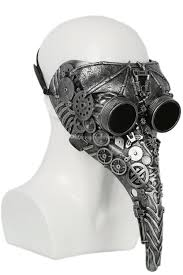 white plague doctor mask 2017 plague doctor mask silver resin mechanical costume