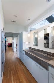 bathroom trough sink bathroom contemporary with clerestory