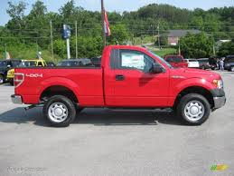 2012 vermillion red ford f150 xl regular cab 4x4 65680777 photo