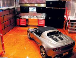 luxury decorating idea and custom garage interiors design ideas by