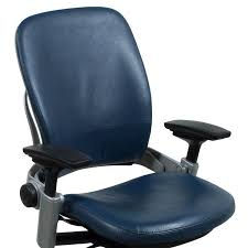 Leather Task Chair Steelcase Leap V2 Used Leather Task Chair Blue National Office