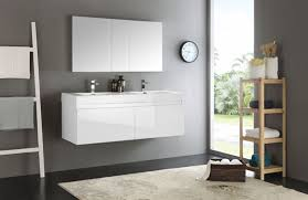 59 Bathroom Vanity by Fresca Mezzo Double 59 Inch Modern Wall Mount Bathroom Vanity