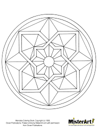 free mosaic patterns print free coloring mandala